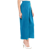 Uptownie Plus Sky Blue  Solid Crepe Palazzo 4 clearance sale