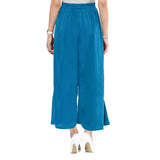 Uptownie Plus Sky Blue  Solid Crepe Palazzo 5 clearance sale