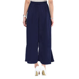 Solid Navy Blue Palazzos