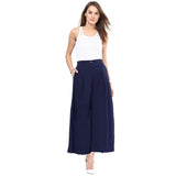 Uptownie Plus Navy Blue Solid Crepe Palazzo 5 trendsale