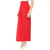 Solid Red Palazzos