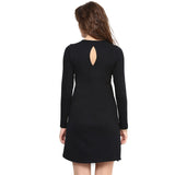 Black Casual Full-Sleeved Dress - Uptownie