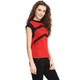 Solid Red & Black Top