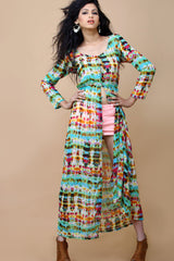 Printed Shrug/Maxi Dress