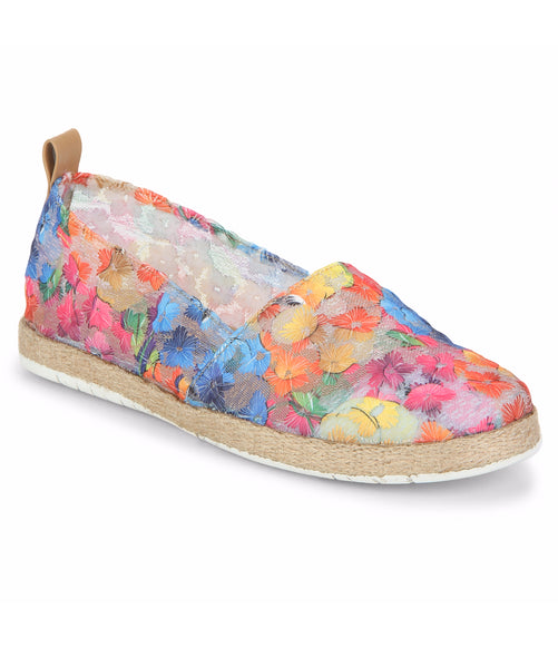 Uptownie X Bootico-Sunny Multicolor Net Espadrilles