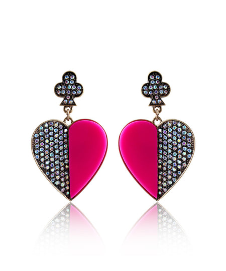 Uptownie X Infuzze-Pink Heart Earrings