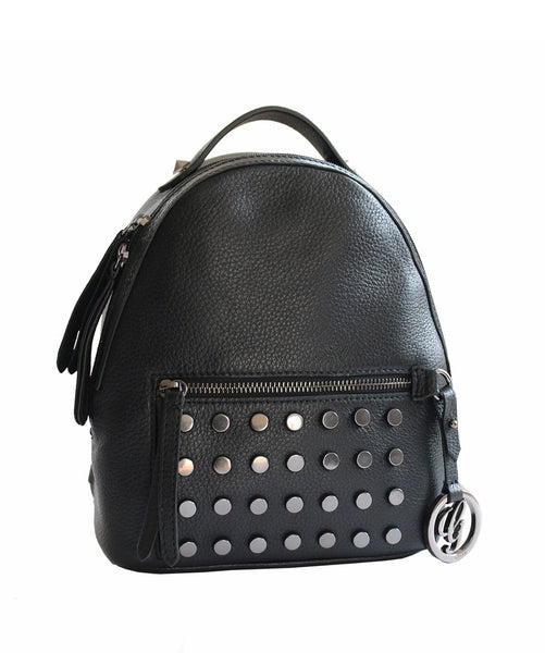 Uptownie X Gripp-The Black Studded Backpack - Uptownie