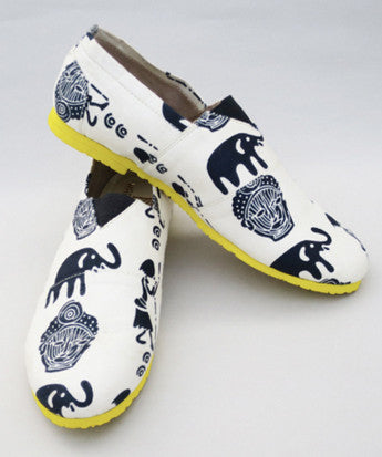 Uptownie X Marlschuz-Boho Print Canvas Shoes - Uptownie