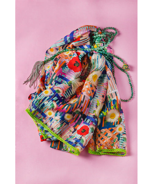 Printed Multicolored Scarf
