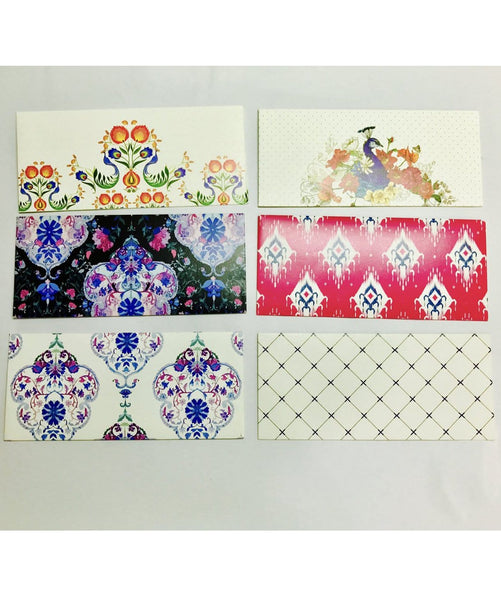 Floral Assorted Money Envelopes(set of 12)(Personalisation Available) - Uptownie