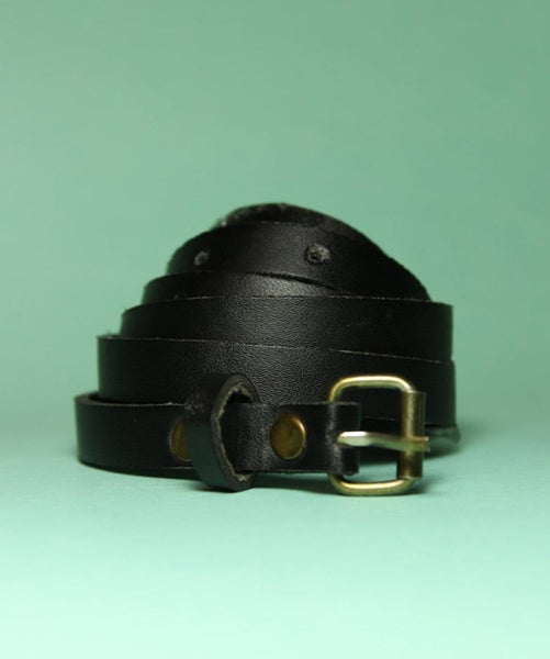 Black Solid belt - Uptownie