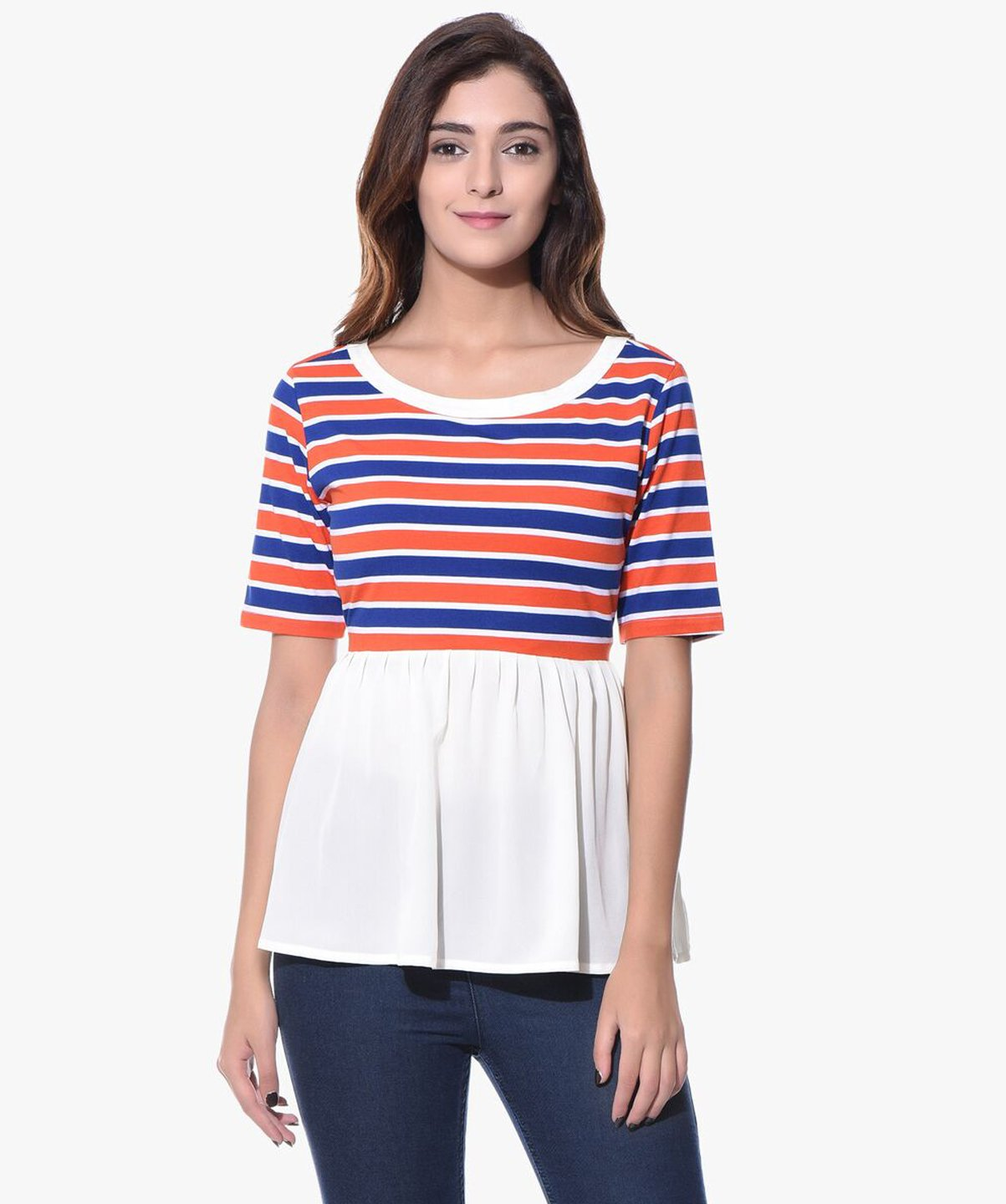 Uptownie Plus Striped Casual T-shirt (cotton) 1 clearance sale