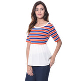 Uptownie Plus Striped Casual T-shirt (cotton) 2 clearance sale
