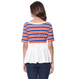Uptownie Plus Striped Casual T-shirt (cotton) 3 clearance sale
