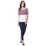 Uptownie Plus Striped Casual T-shirt (cotton) 4 summer sale