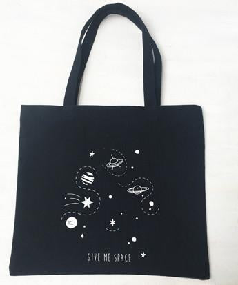 Uptownie X Whistling Yarns Tote Bag - Give Me Space(Pack of 1). Uptownie