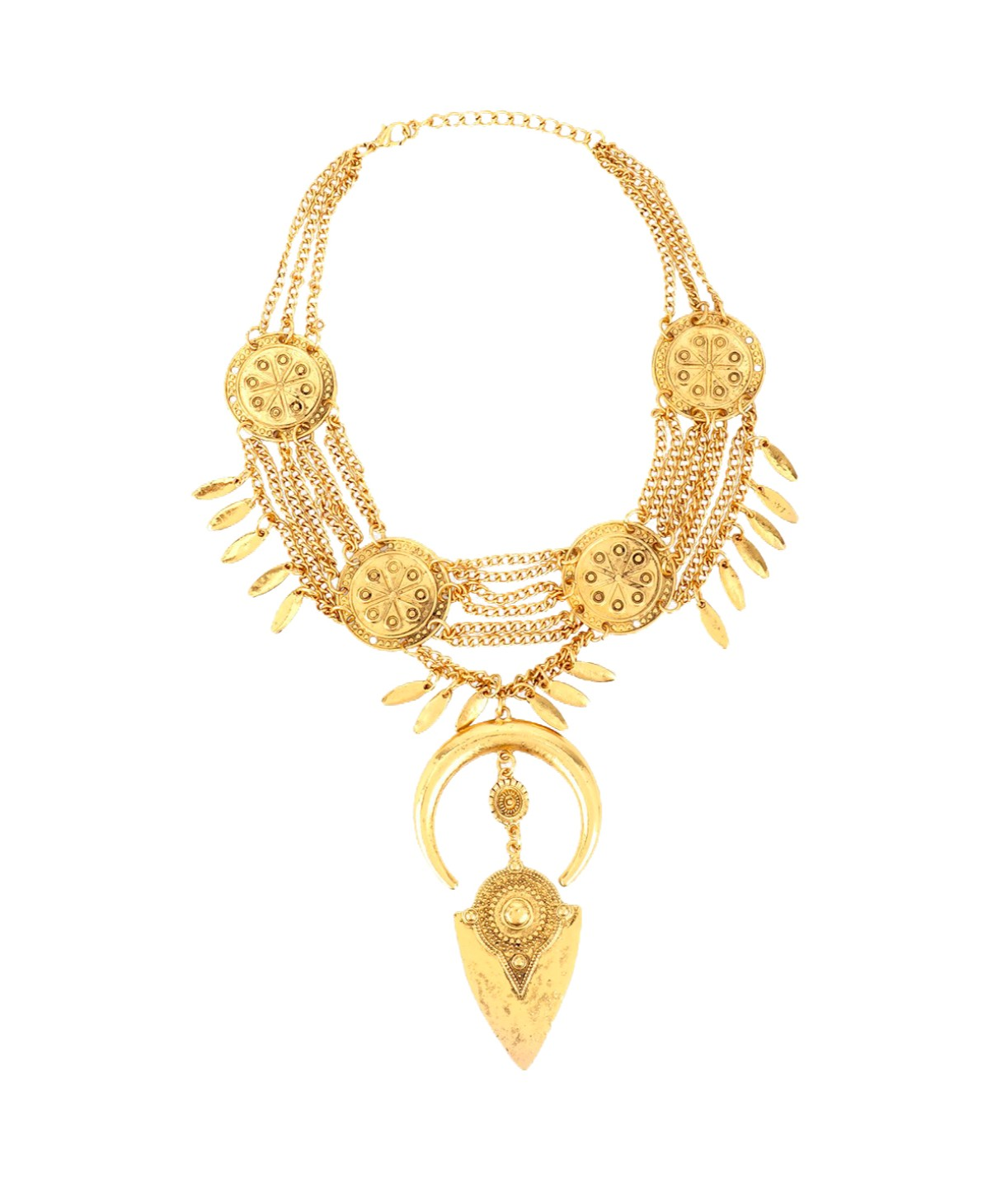 Warrior Gold Necklace - Uptownie