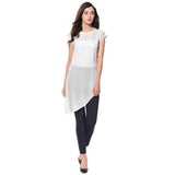 Uptownie White Solid Side-Slit Casual Crepe Top 2 trendsale
