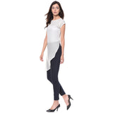 Uptownie White Solid Side-Slit Casual Crepe Top 3 trendsale
