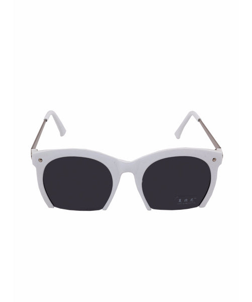White Cutout Sunglasses - Uptownie