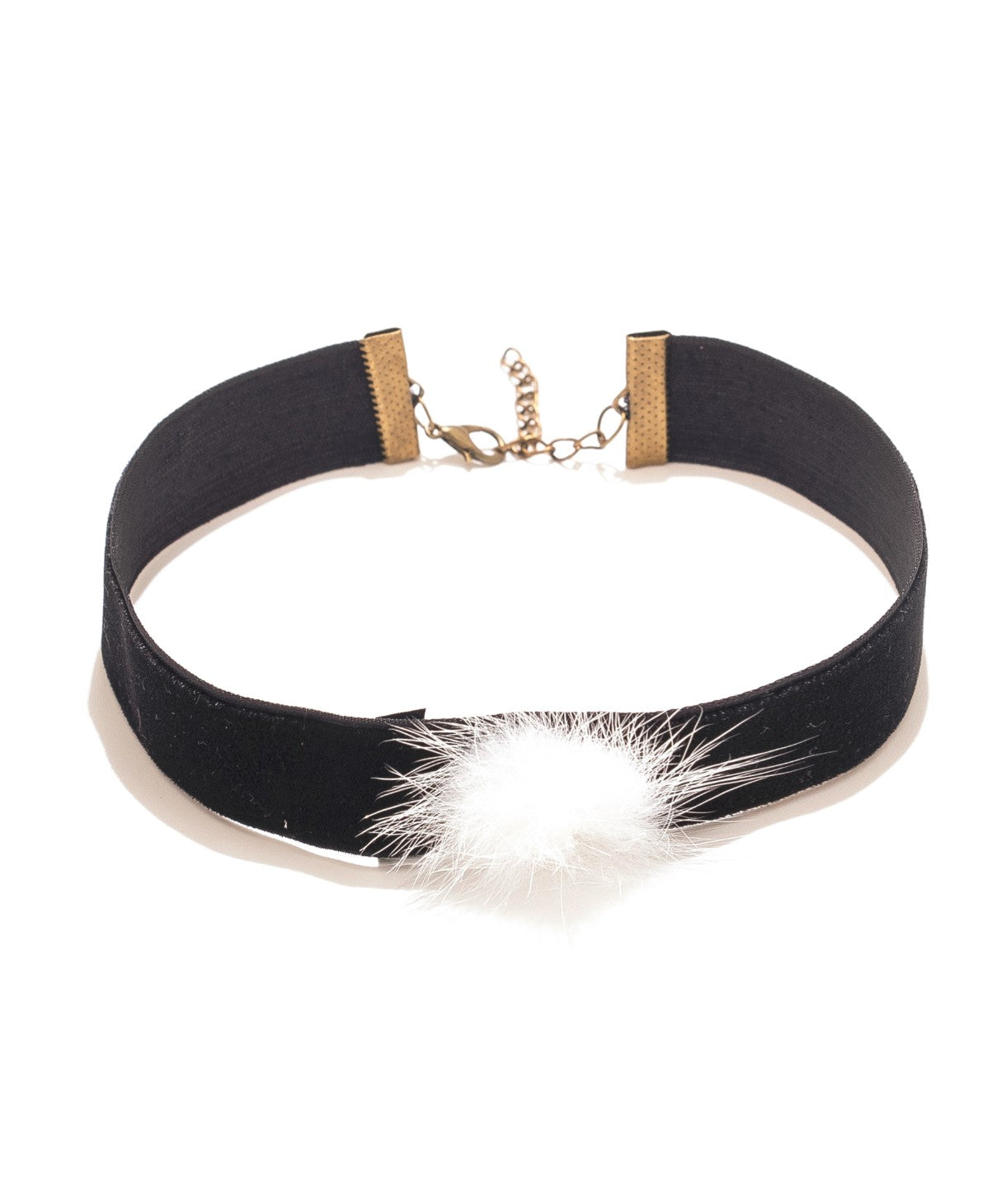White Fluffy Choker - Uptownie