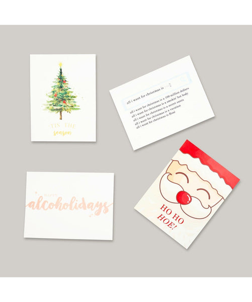 Christmas Card Pack 2016 - 4 Cards, 4 Designs - Uptownie