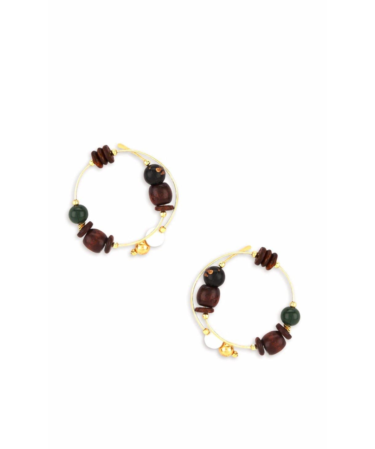 Beaded Wrap Hoops - Uptownie