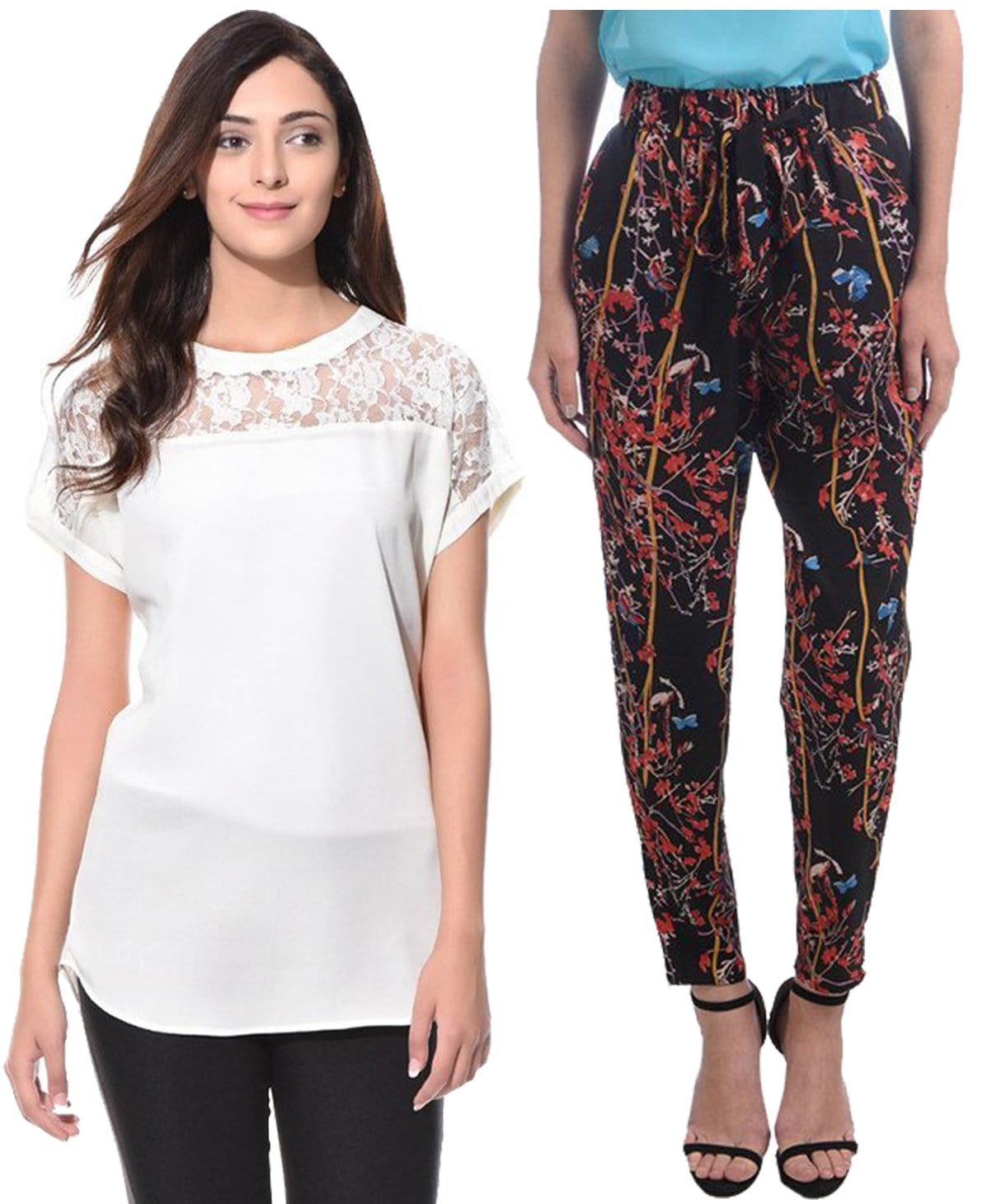 Lace Top & Trouser Super Saver Combo - Uptownie