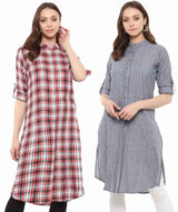 Striped & Checked Kurtis Super Saver Combo