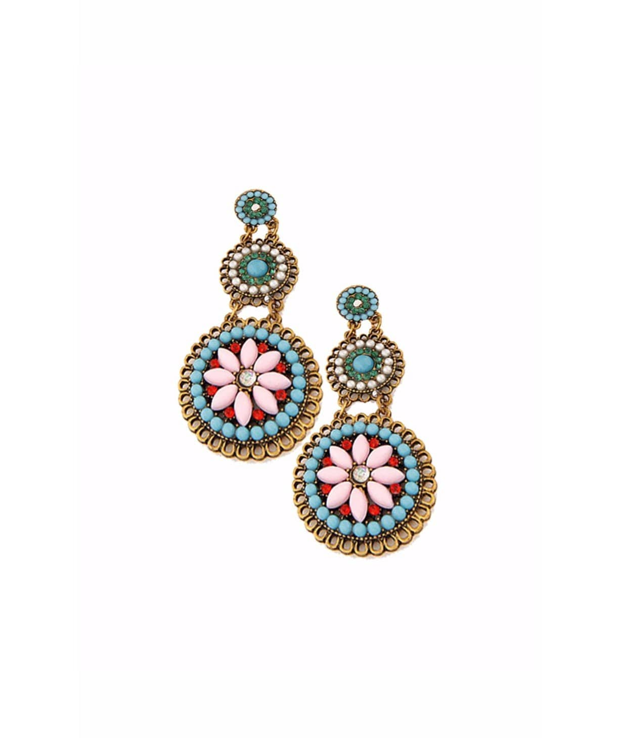 Ethnic Floral Earrings - Uptownie