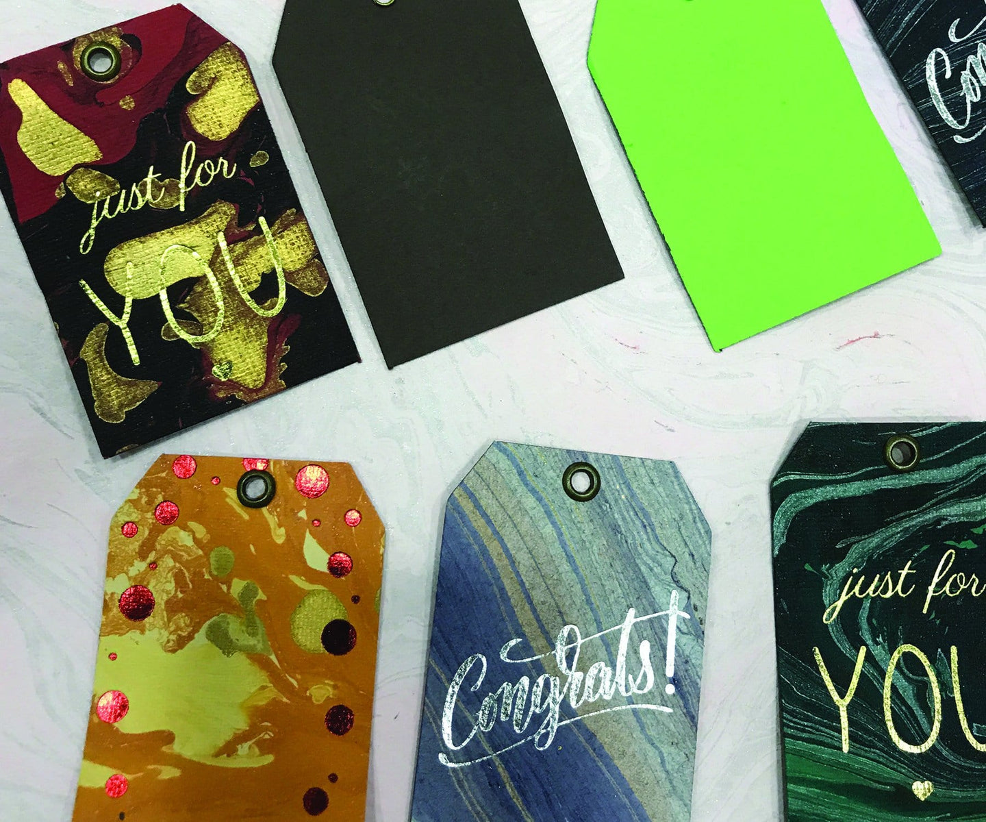 Hand Marbled Gift Tags(set of 8)(Personalisation Available) - Uptownie