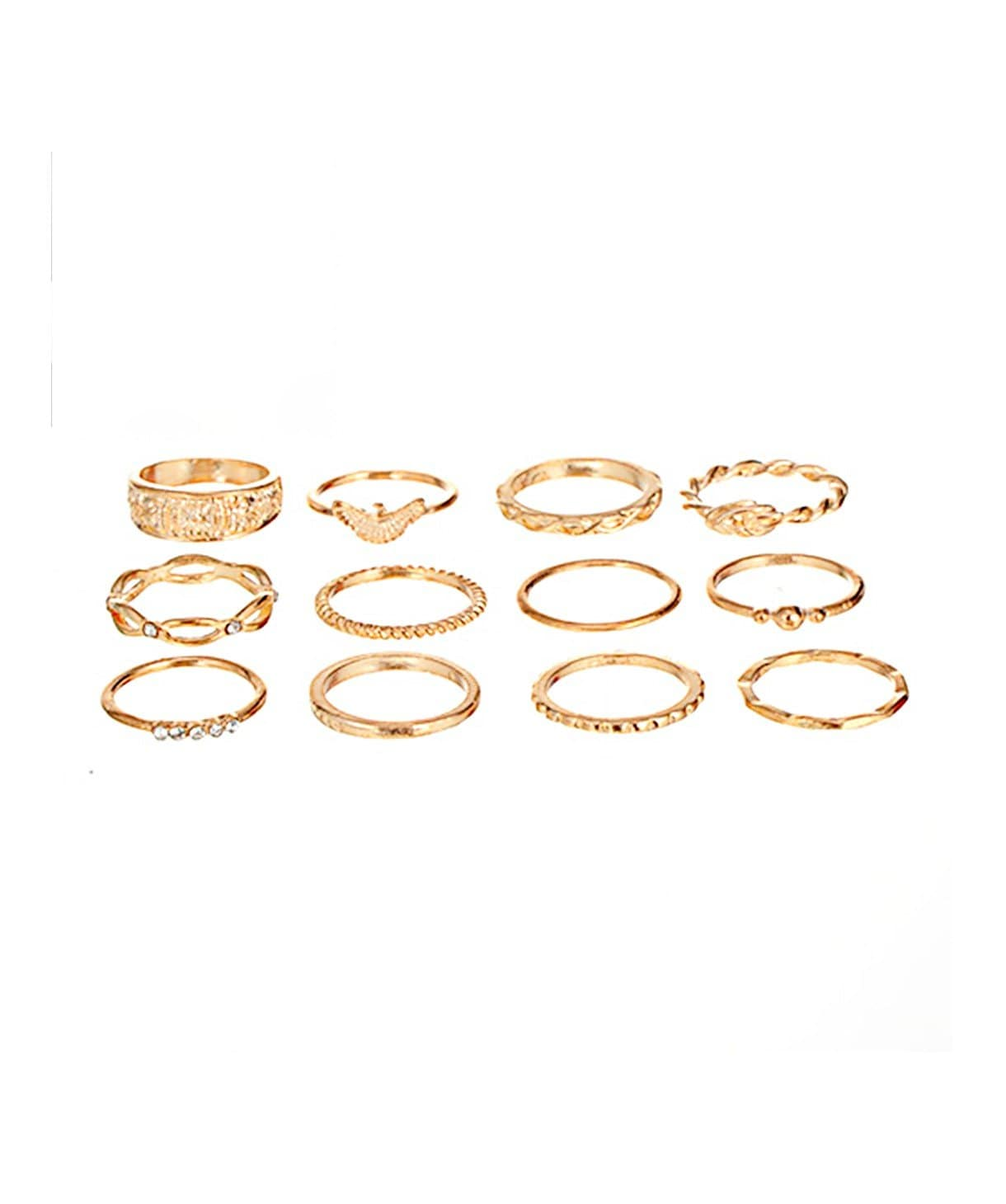 Gold Medley Ring Set - Uptownie