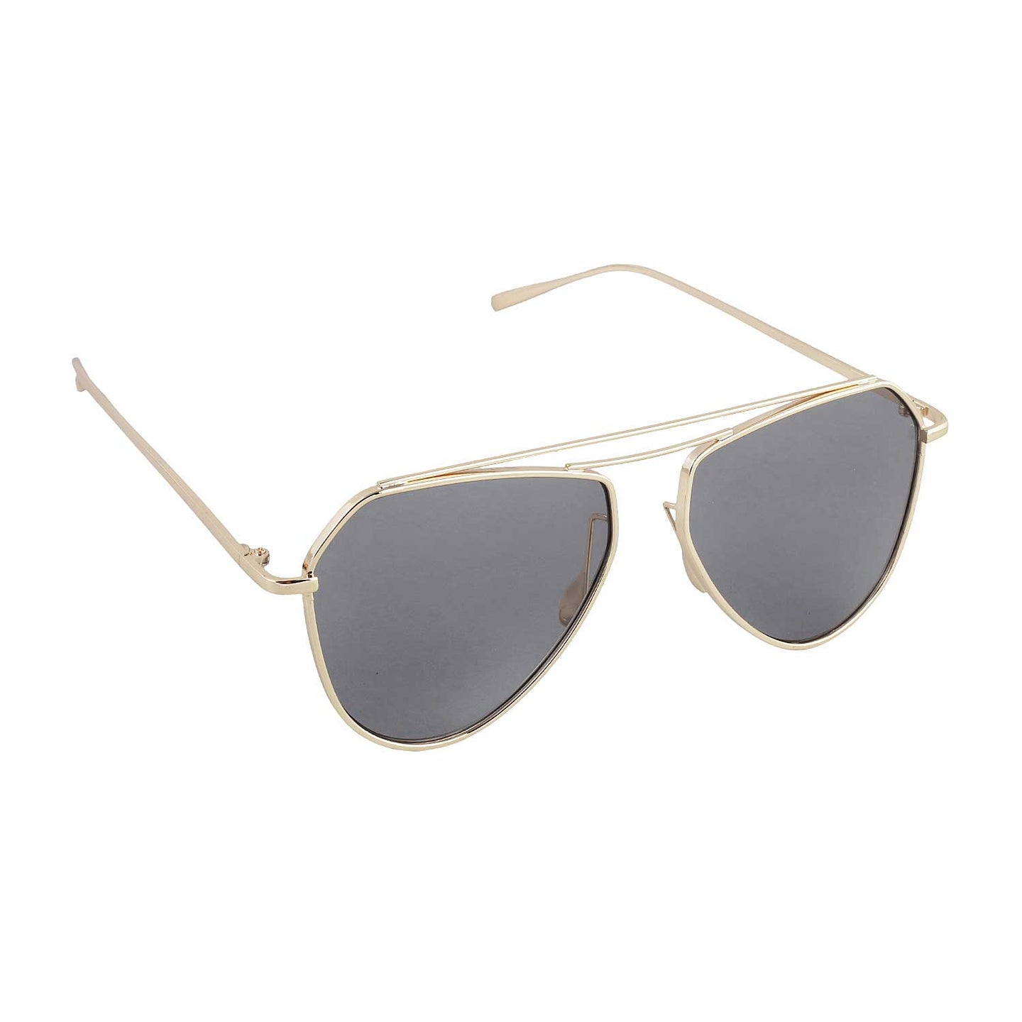 Sleek Cut Sunglasses- Black - Uptownie
