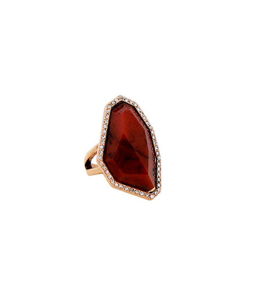 Maroon Stone Ring - Uptownie