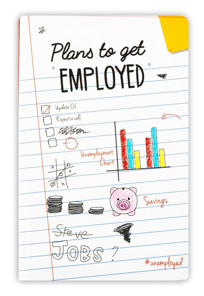 Unemployed Notebook (unruled) - Uptownie