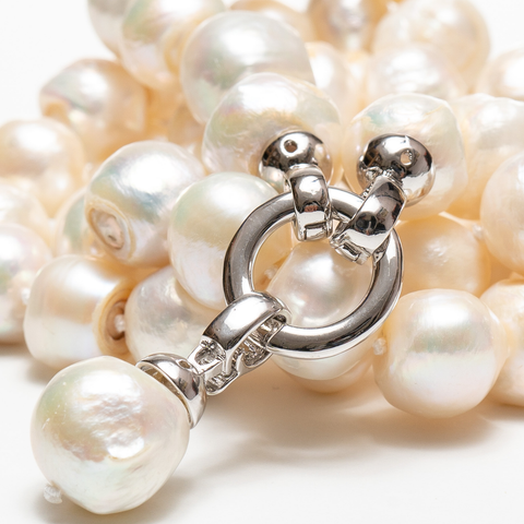 Avery Long White Pearl Necklace | Stones That Rock