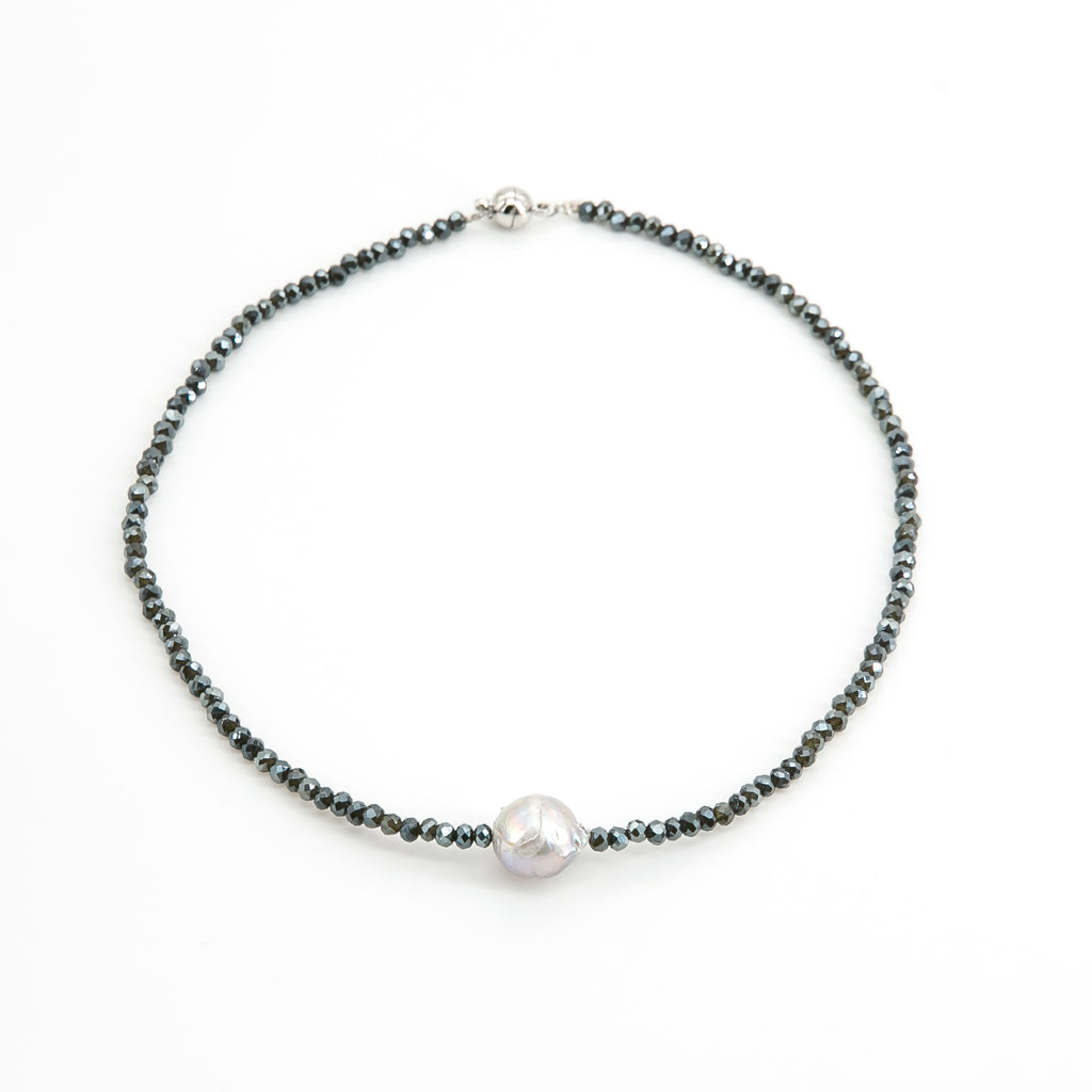 Patricia Baroque Pearl & Crystal Short Necklace | Stones that Rock