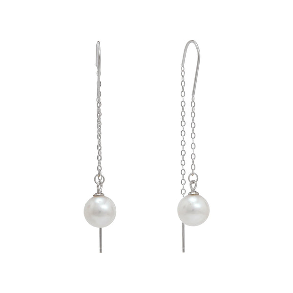 Birdie Pearl & Chain Drop Earrings | Stones that Rock
