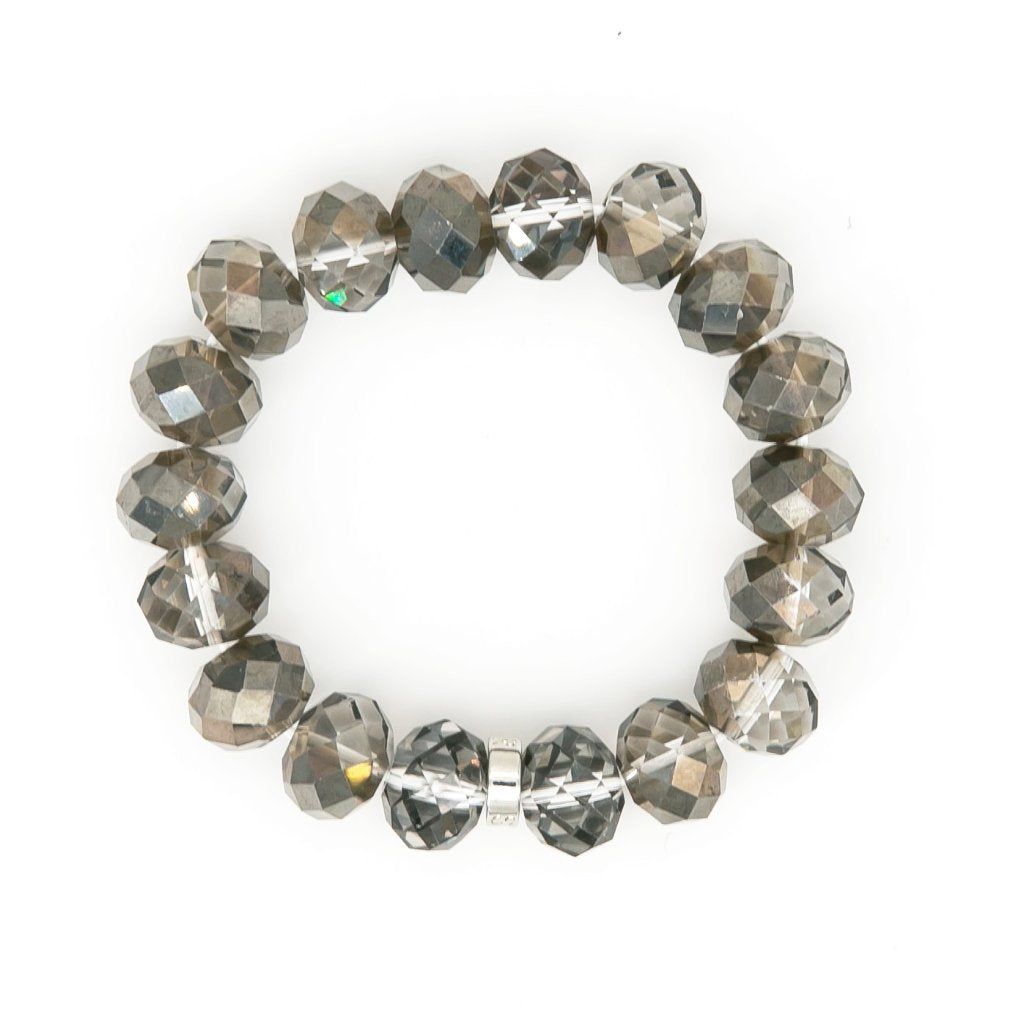 Chinese Crystal 14mm Bead Bracelet | Stones that Rock
