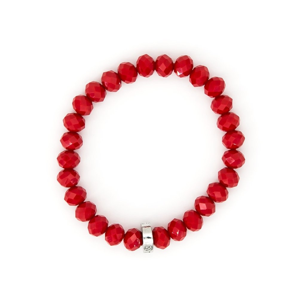 Chinese Crystal 8mm Bead Bracelet | Stones that Rock