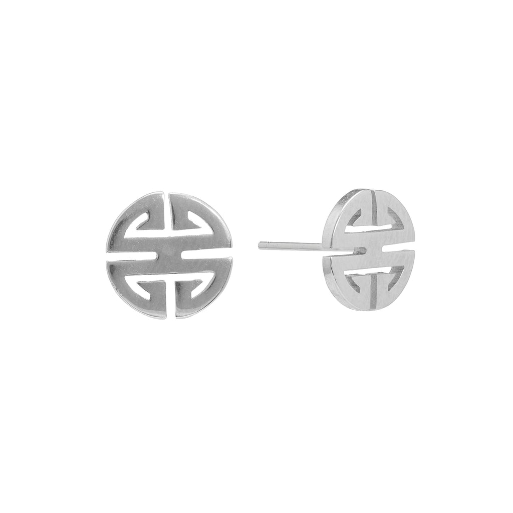 Double Happy Silver Studs | Stones that Rock