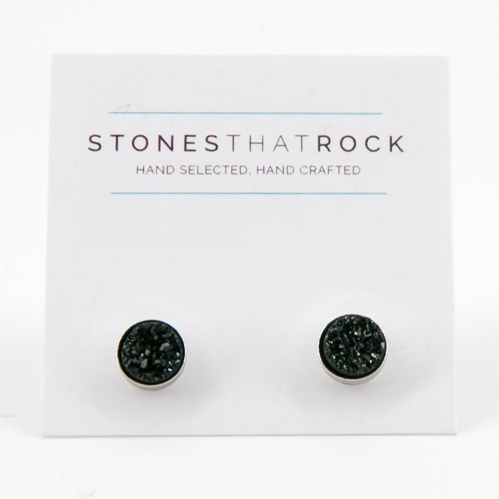 Druzy Stud Earrings | Stones that Rock