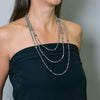 Ellen Crystal Loop Necklace | Stones that Rock