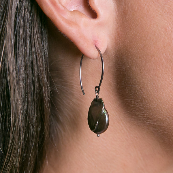 Hoop Coin Pearl Cafe Earrings | Stones That Rock