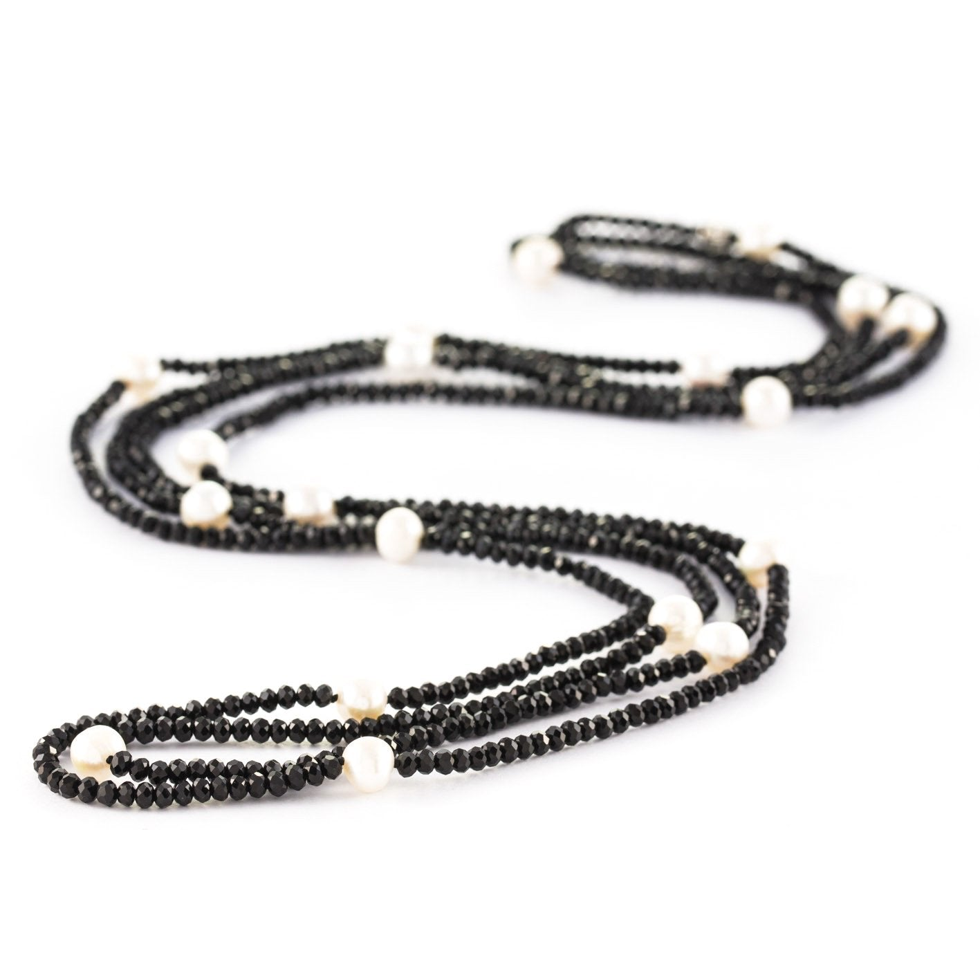 bacfe4c87 Stones that Rock | Helen Crystal & Pearl Loop Necklace – Stones That ...