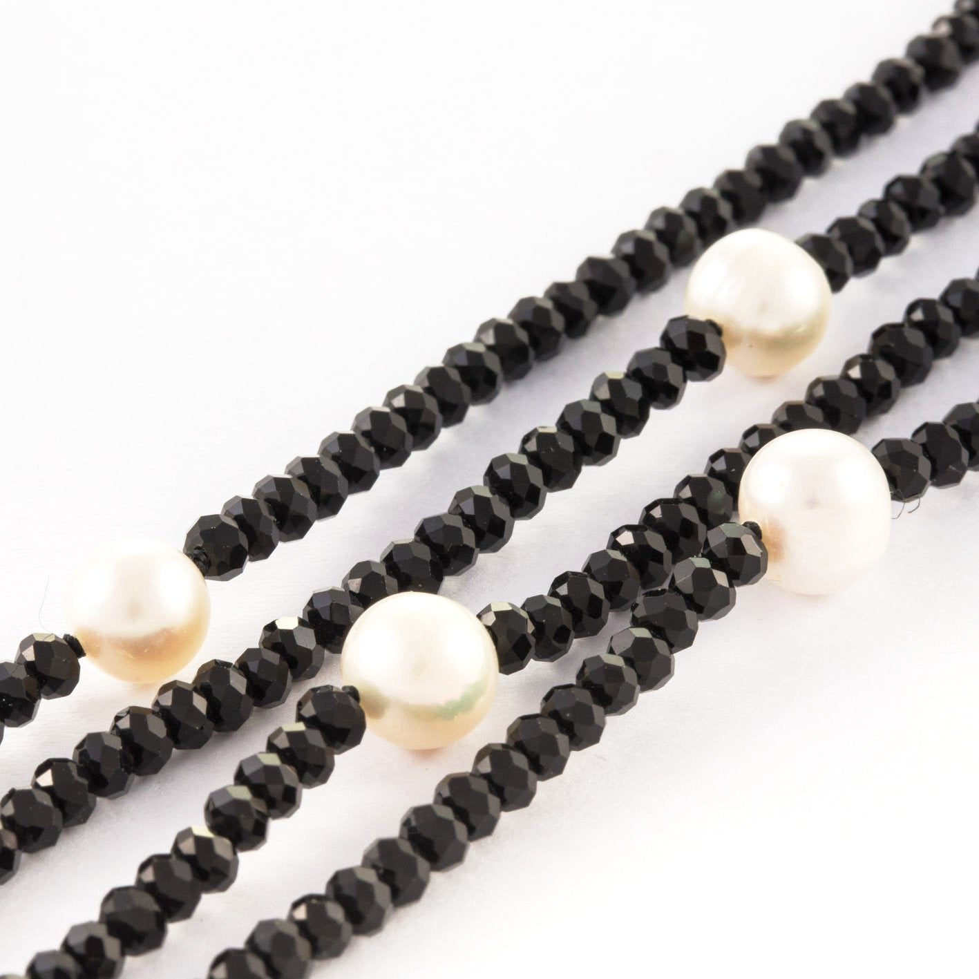 Helen Crystal & Pearl Loop Necklace | Stones that Rock