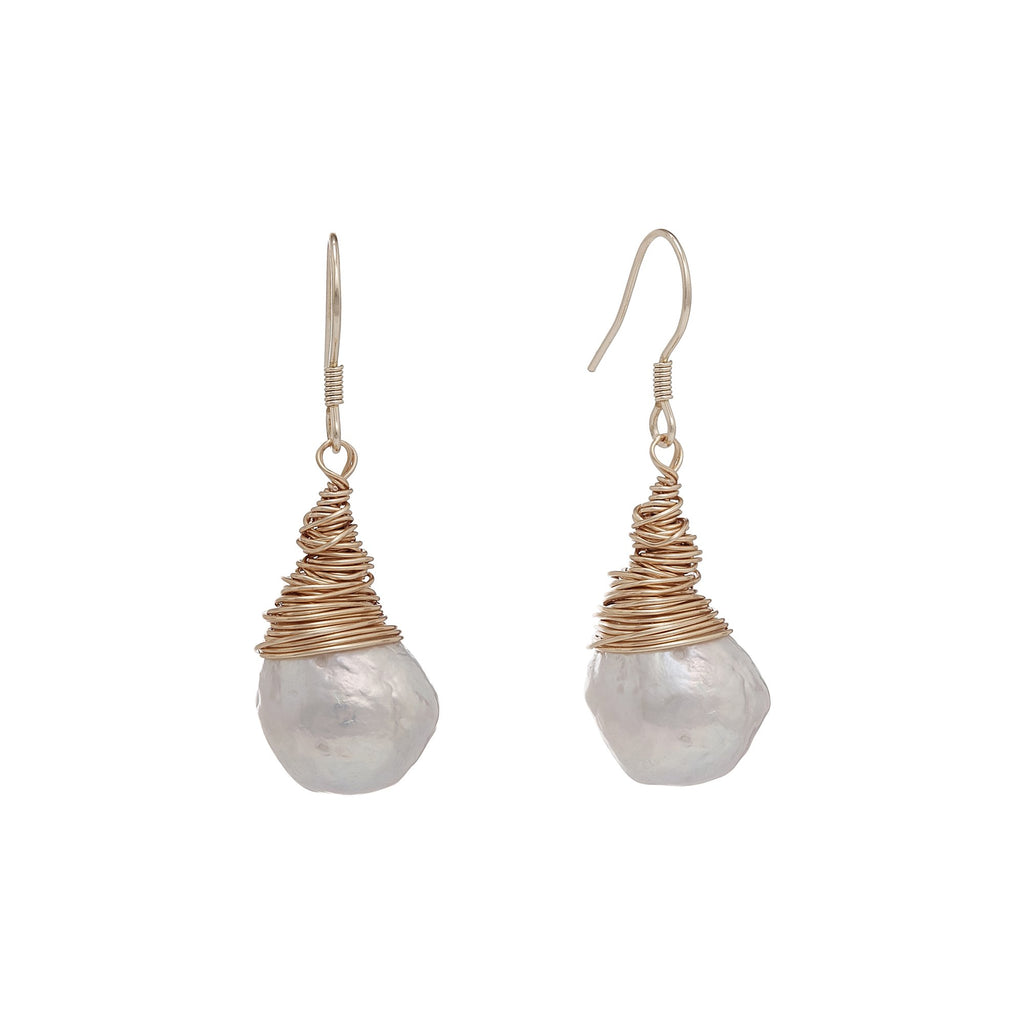 Ivy Teardrop Baroque Pearl Drop Earrings | Stones that Rock