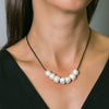 Libby Short Pearl & Leather Necklace | Stones That Rock