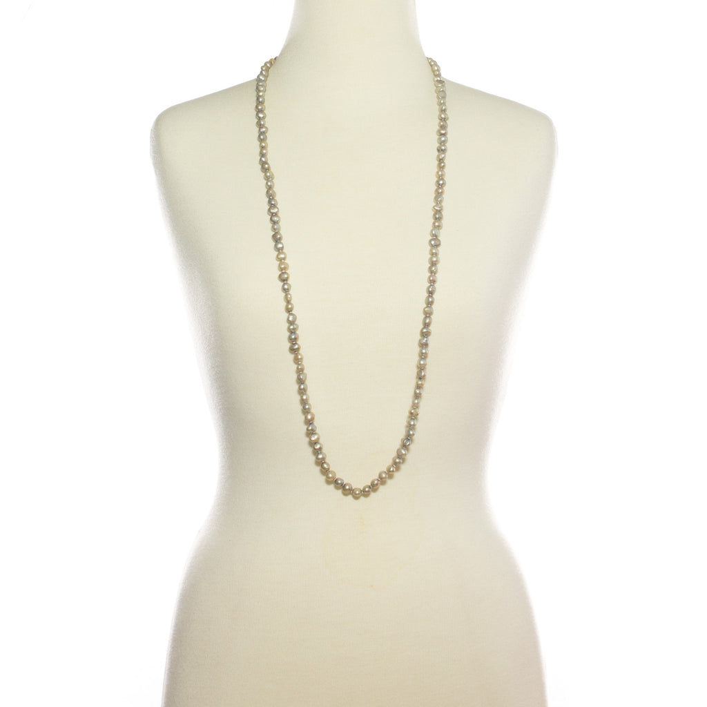 Serena Pearl Long Loop Necklace | Stones that Rock