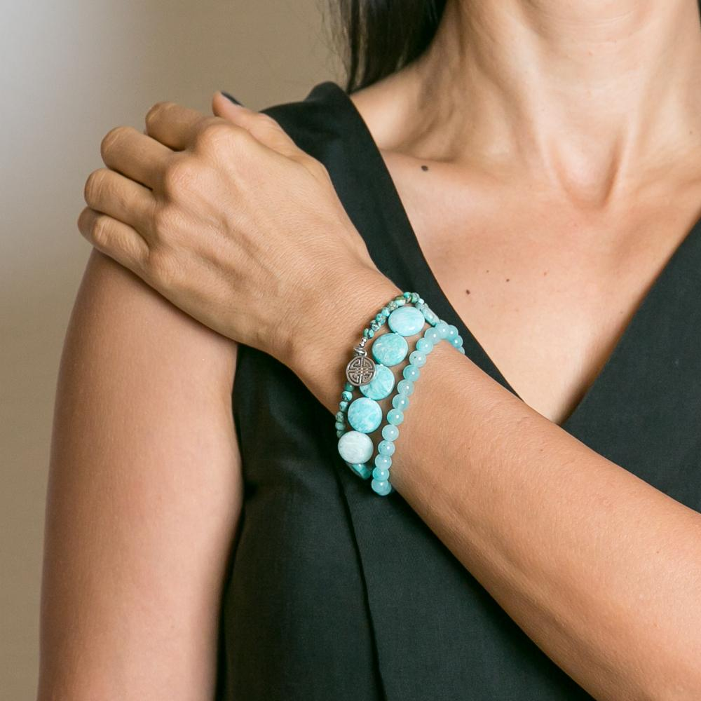 Luna Amazonite Stone Bracelet Set | Stones that Rock